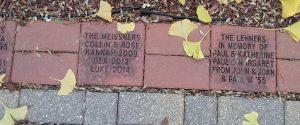 Sample of engraved bricks